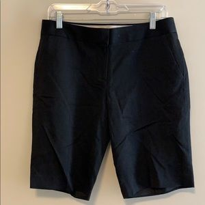 J Crew black suiting Bermuda shorts